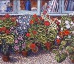 Geraniums Under the Studio Window